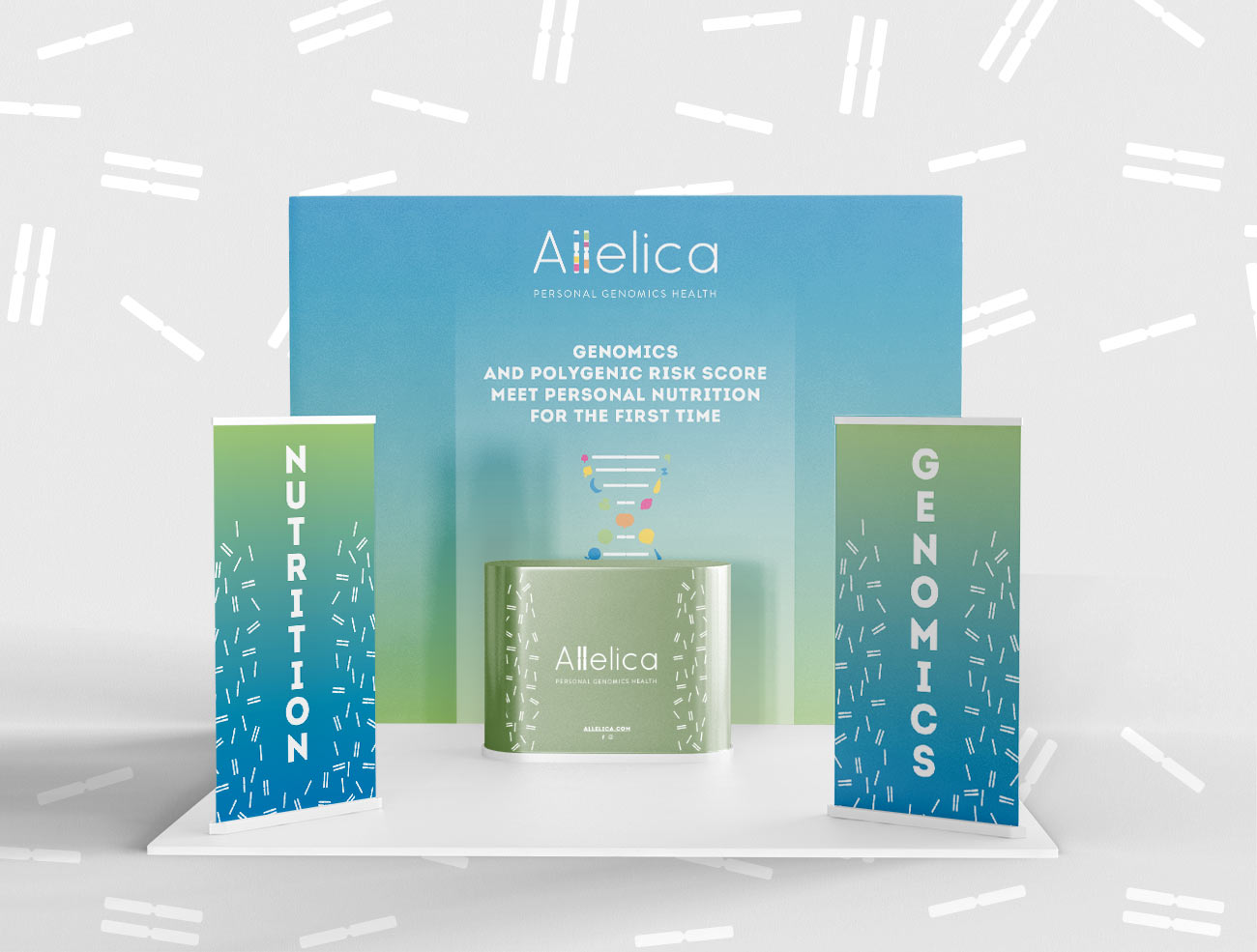 Allelica exhibition stand for a fair