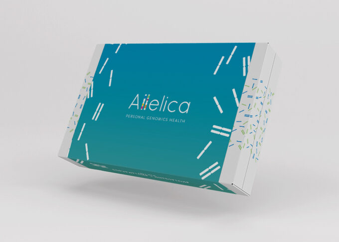 Allelica DNA test packaging