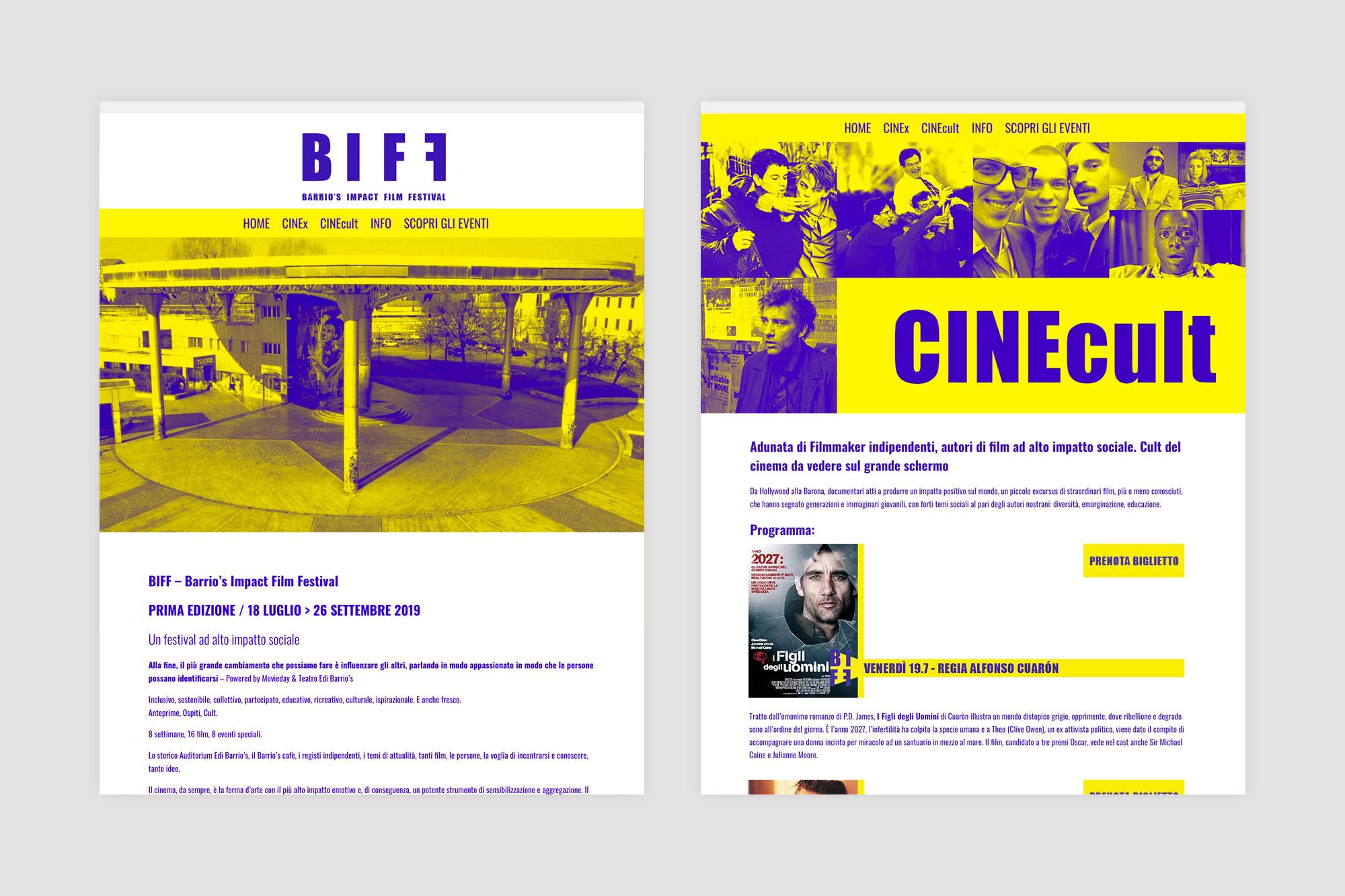 BIFF website made in WordPress