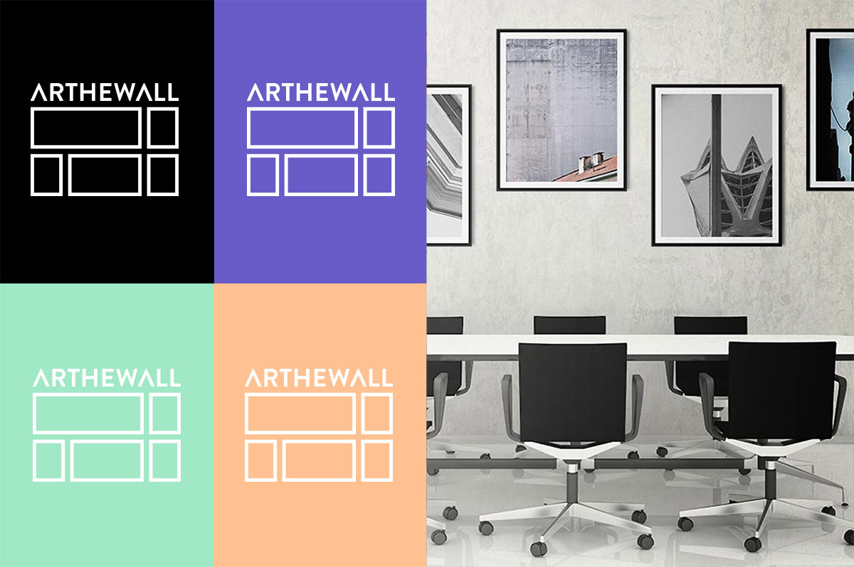 Arthewall corporate logo variations
