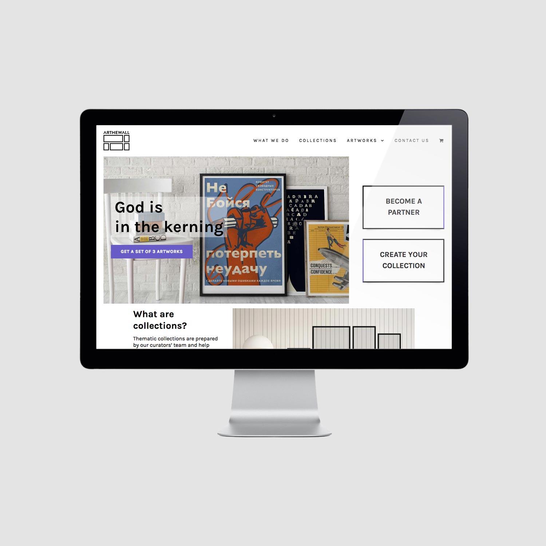 Arthewall e-commerce website