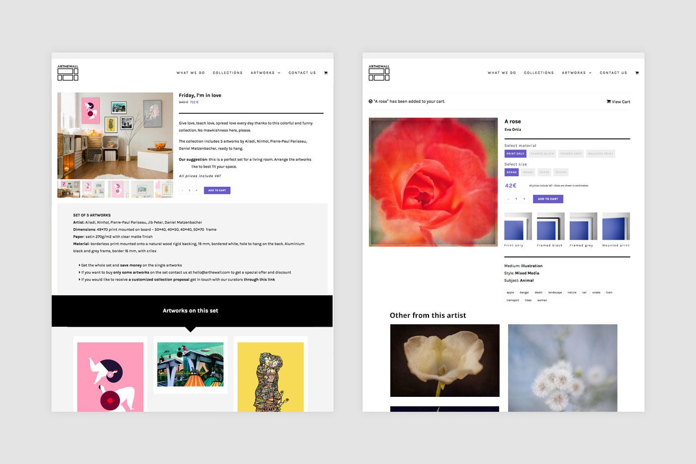 Arthewall online art shop