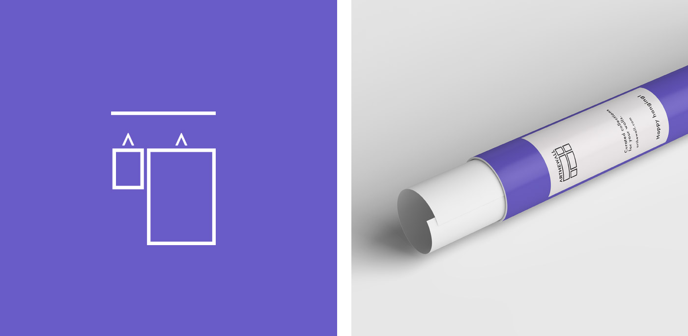 Arthewall packaging tube for poster