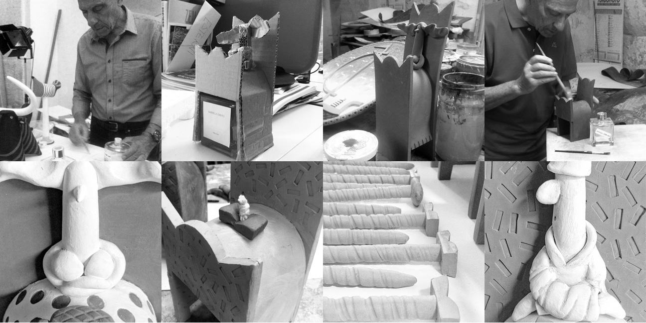 making off of the sculpture with Bruno Maggio