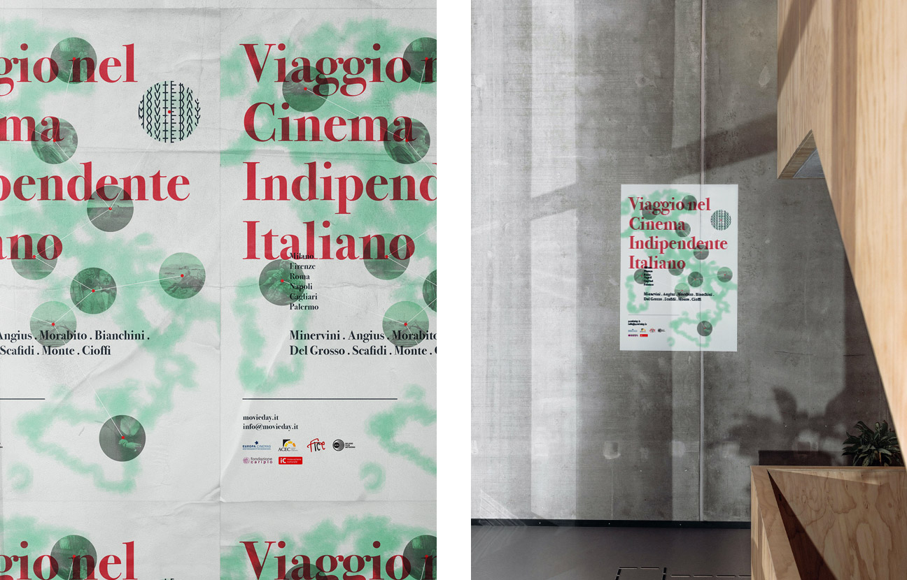 Movieday poster design for a film festival